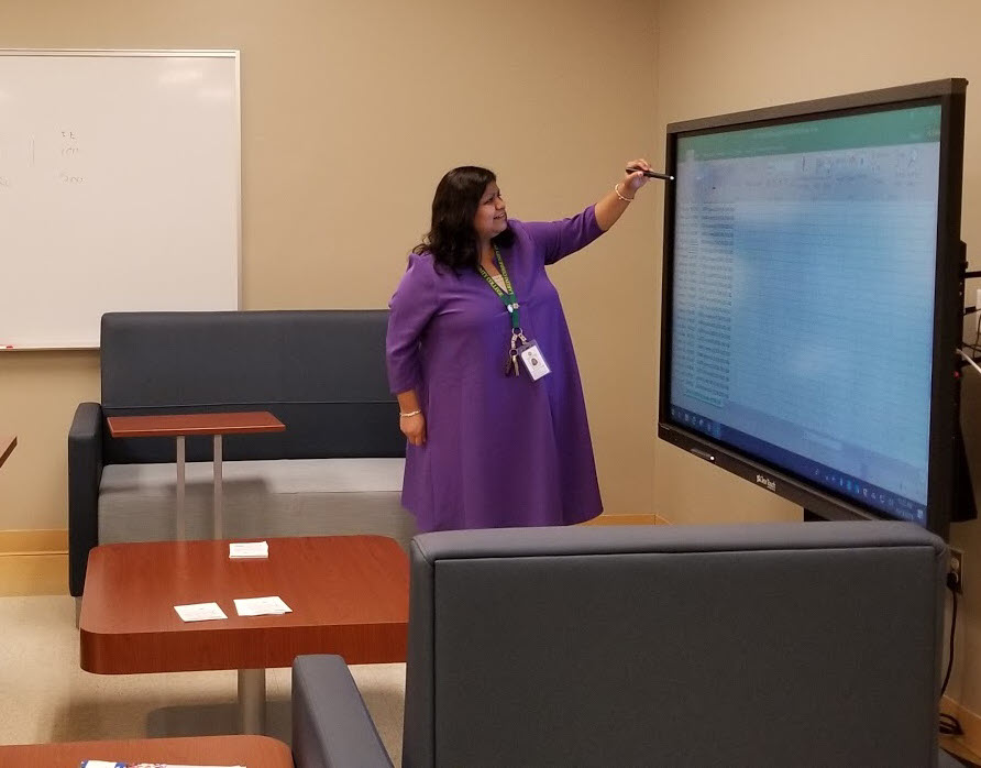 Image of ClearTouch Board at Ft. McIntosh Campus Digital Center